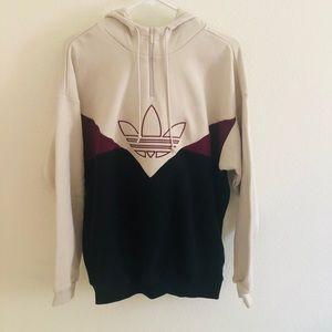 Women's Adidas Half Zip Hoodie Sweatshirt